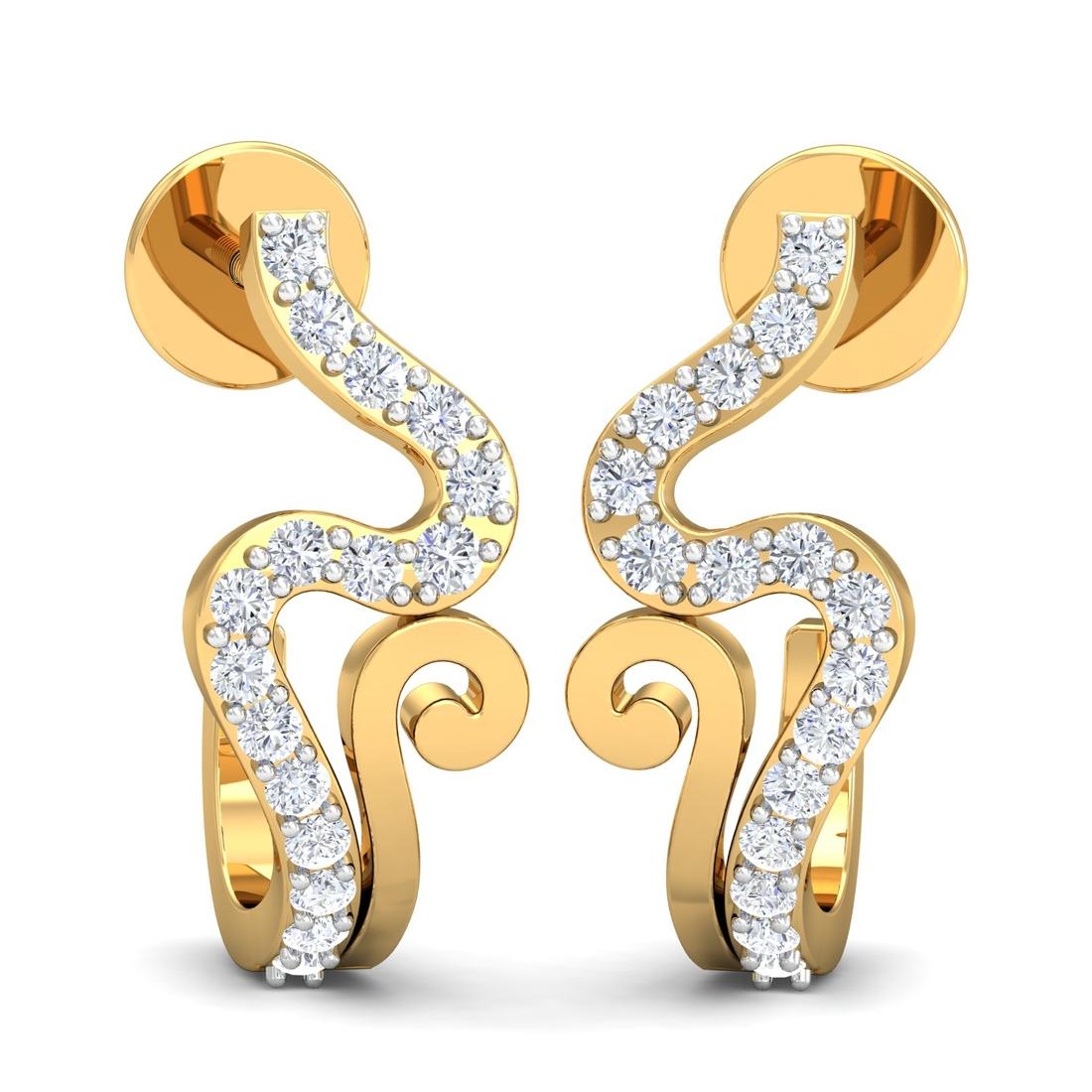 Arkina Diamond's Turned twisted earring