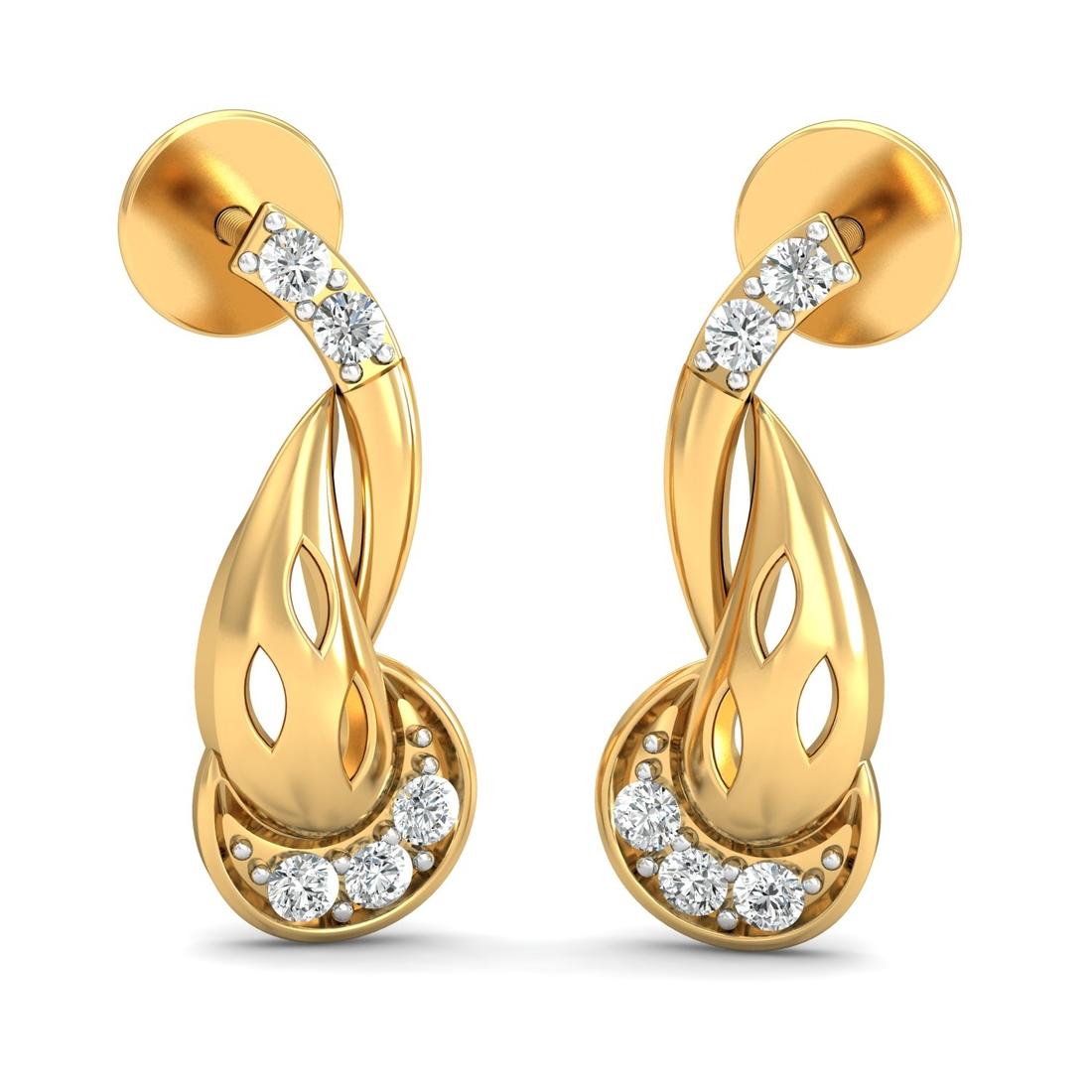 Arkina Diamond's leaves in leaf earrings