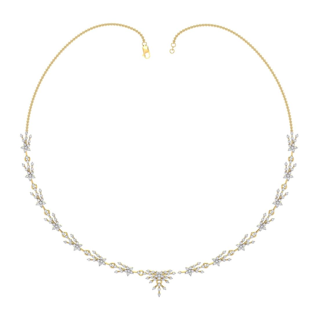 Arkina Diamond's Glittering small diamonds necklace