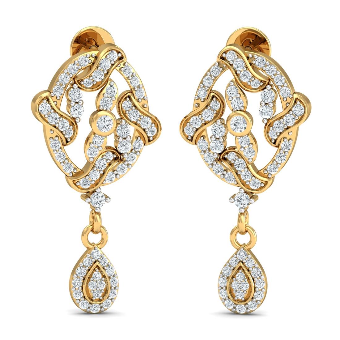 Arkina Diamond's Sparkling Zig Zag Diamond Earrings