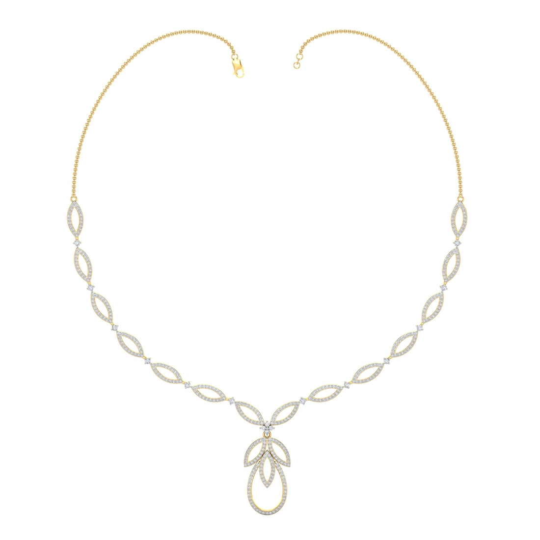 Arkina Diamond's Leaves collection necklace