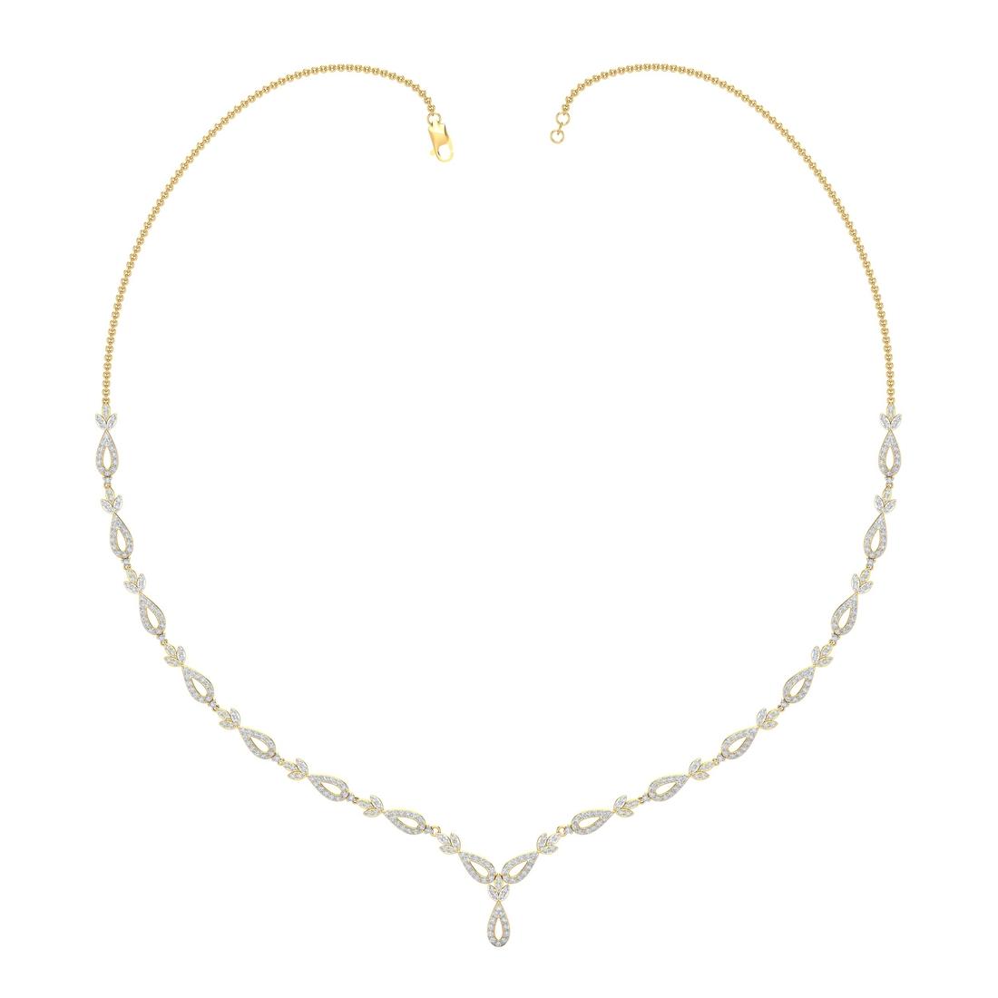 Arkina Diamond's Sparkling leaves necklace