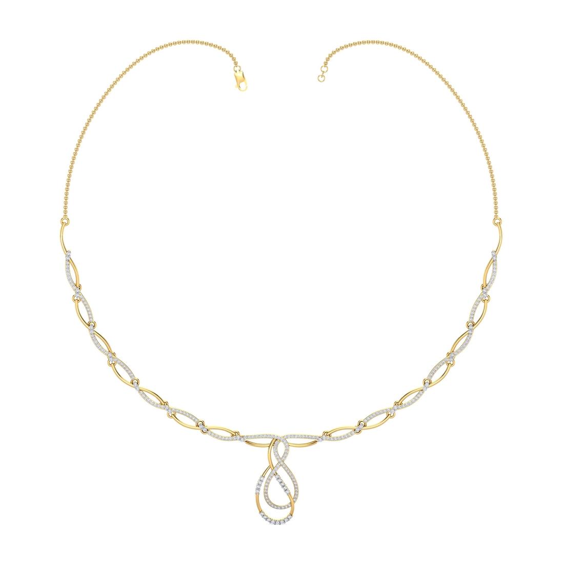 Arkina Diamond's Twisted end necklace