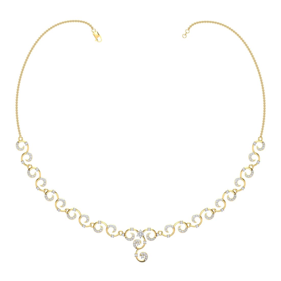 Arkina Diamond's Tangled curves necklace