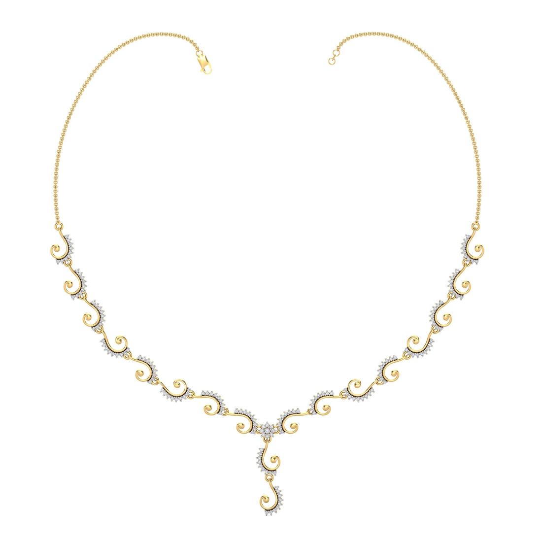 Arkina Diamond's Elegant Spokes Necklace