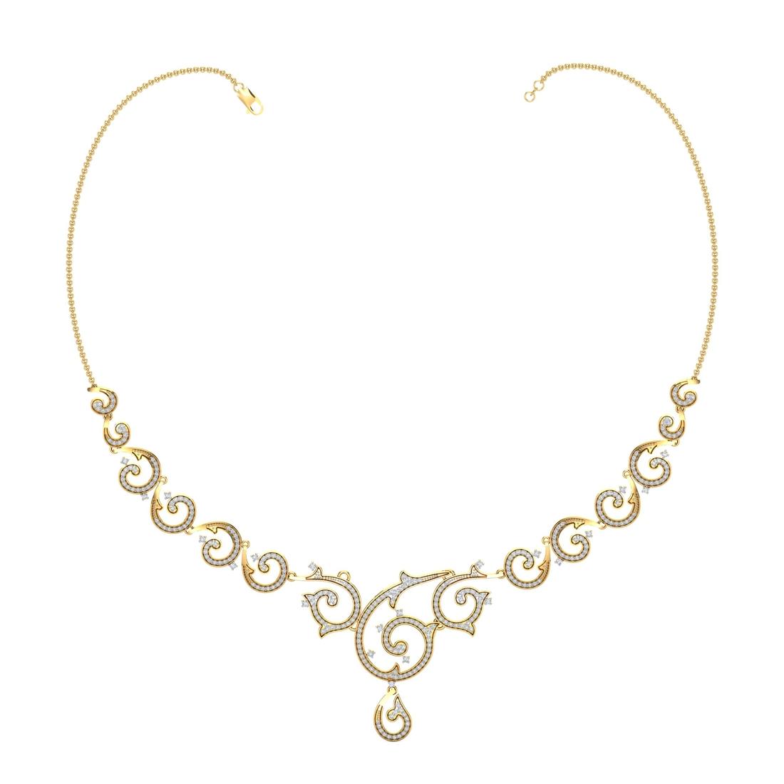 Arkina Diamond's Abstract Artline Necklace