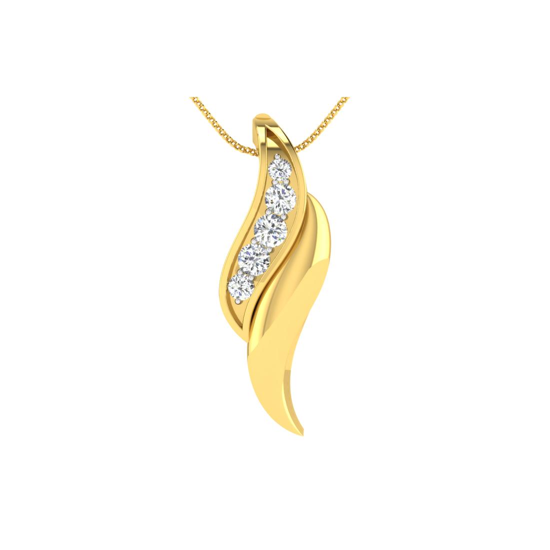 Arkina Diamond's Fine twist pendent