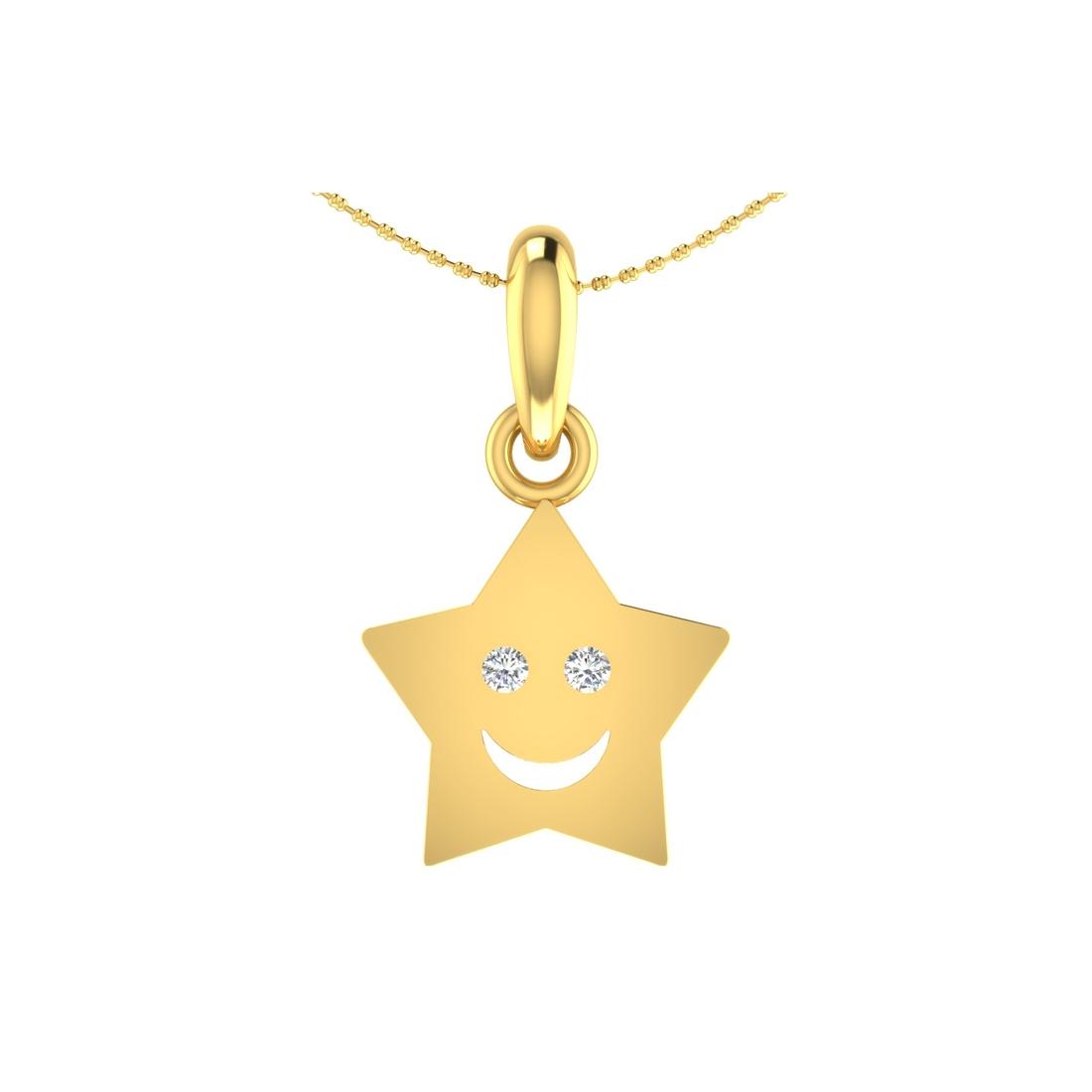 Arkina Diamond's Smiling star pendent