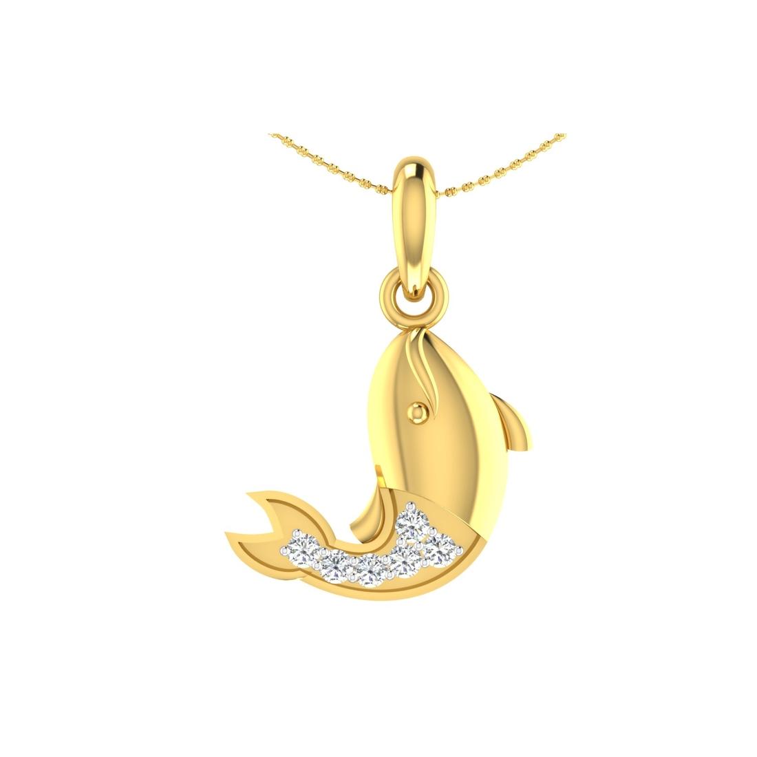 Arkina Diamond's Glowing Fish pendent