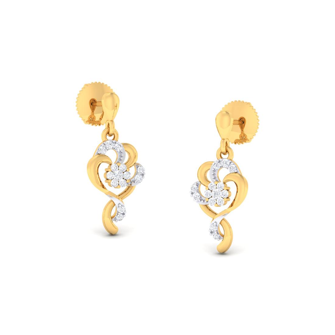 Arkina Diamond's Decorative floral earring