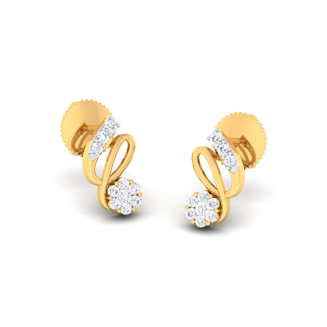 Arkina Diamond's Entangled style earrings