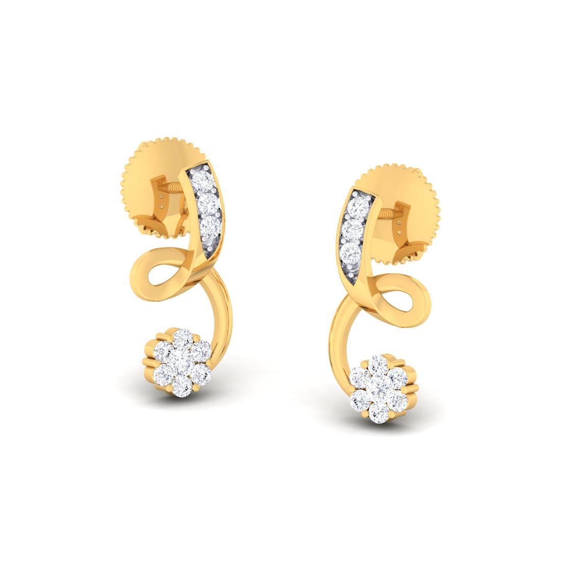 Arkina Diamond's Exquisite entangled earrings