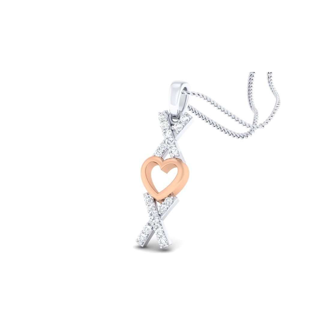 Arkina Diamond's Mounted heart pendent