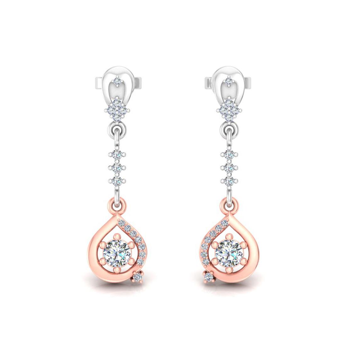 Spinner hanging earrings