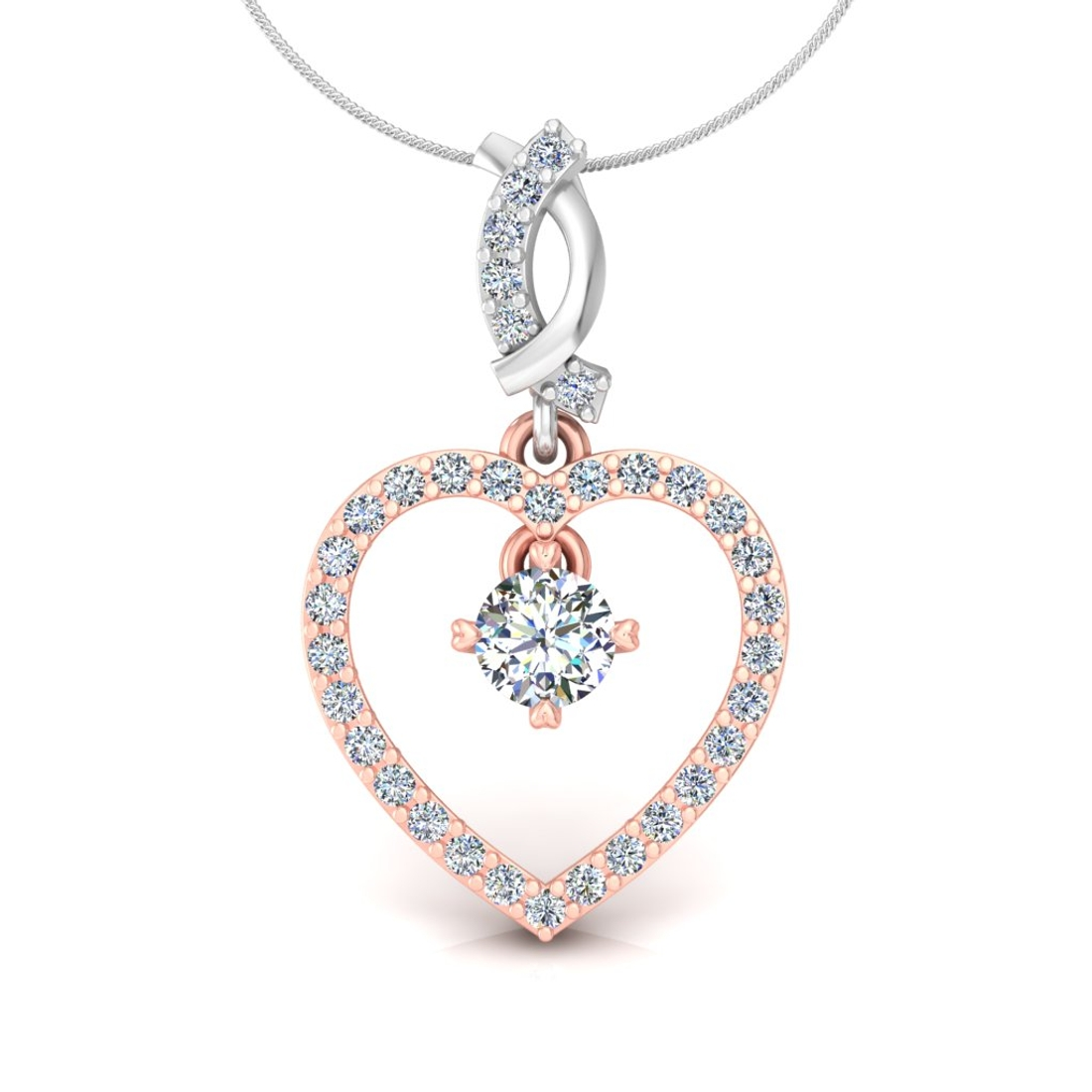 Glow heart pendant