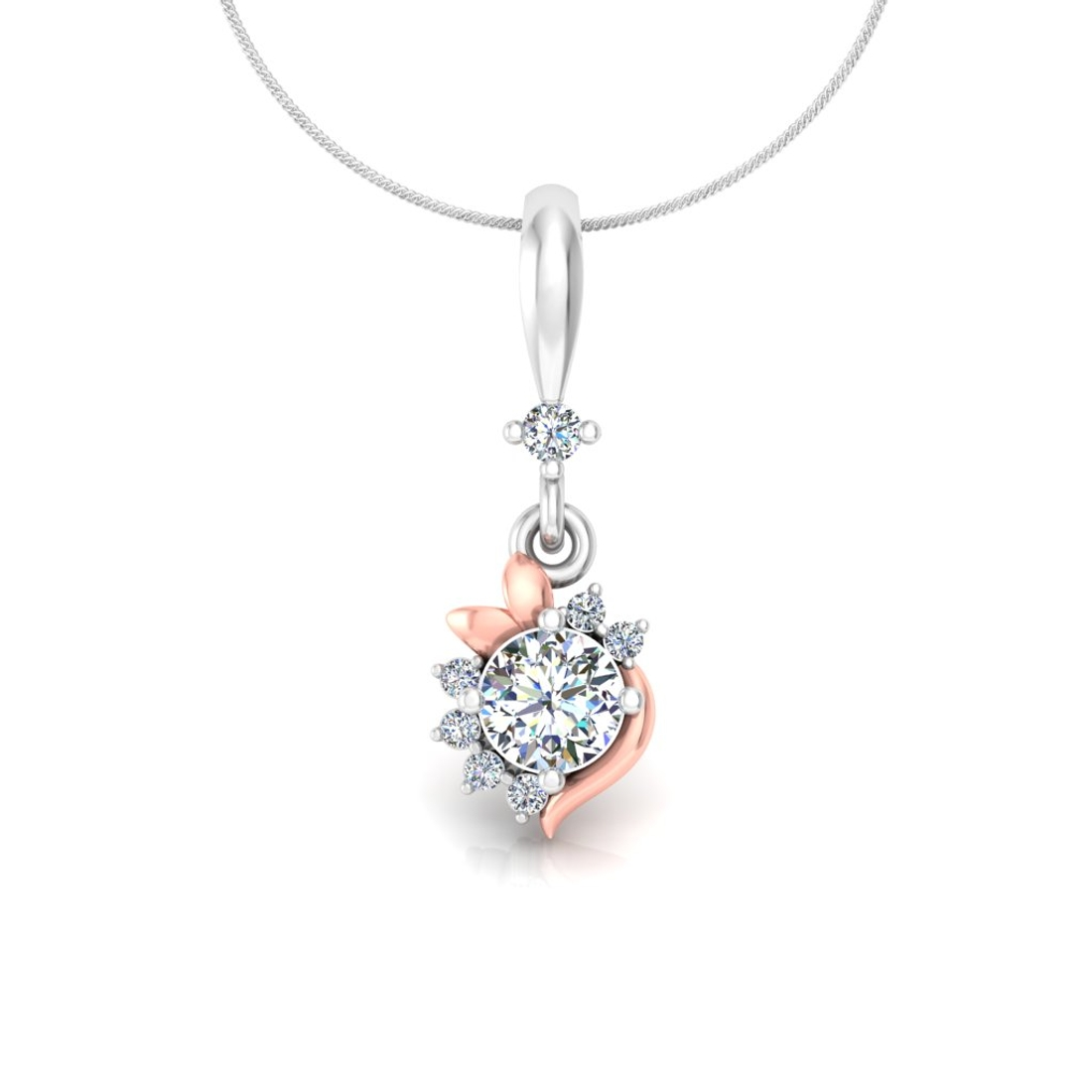exceptional flower pendant