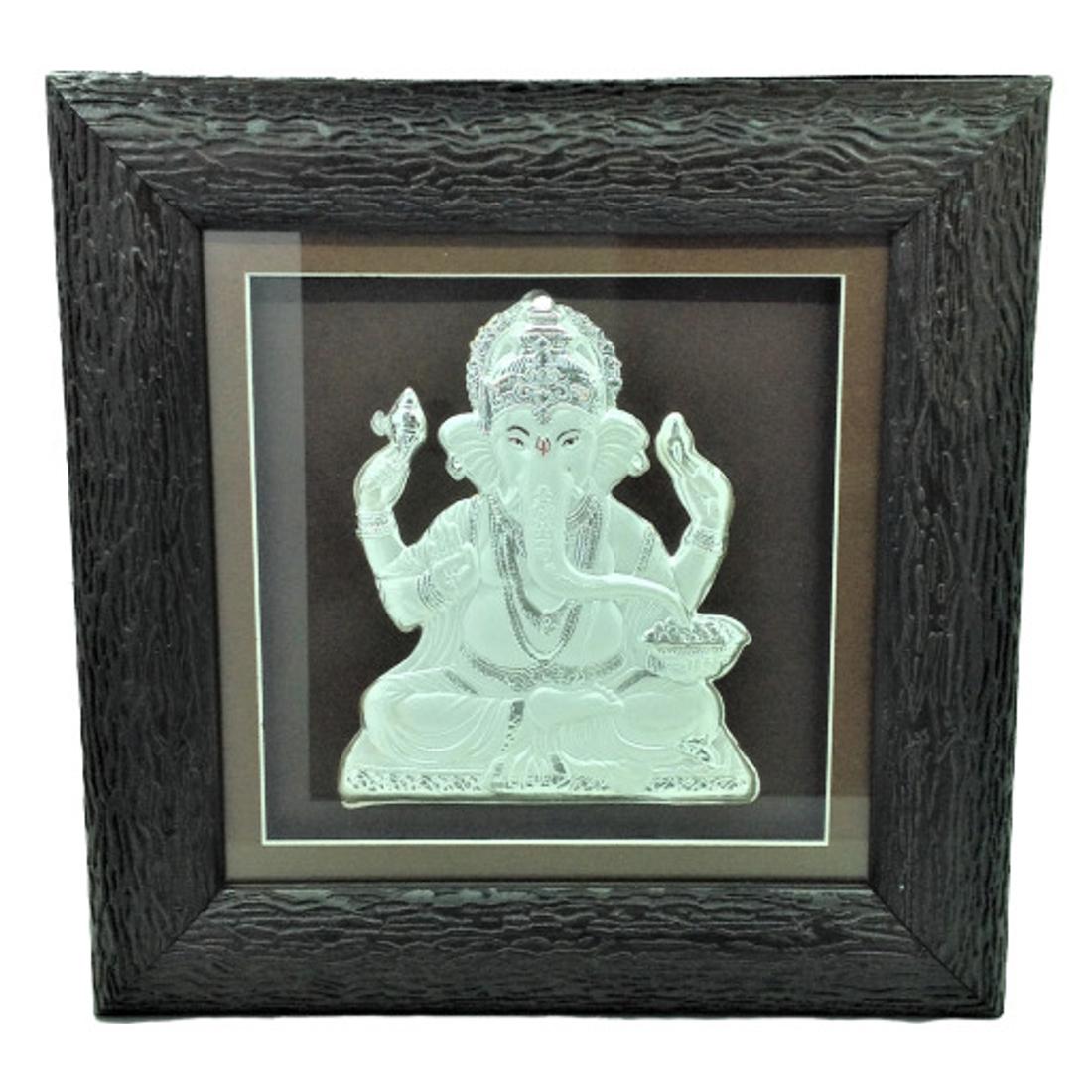 Silver Ganesh Frame by Bharat Traders