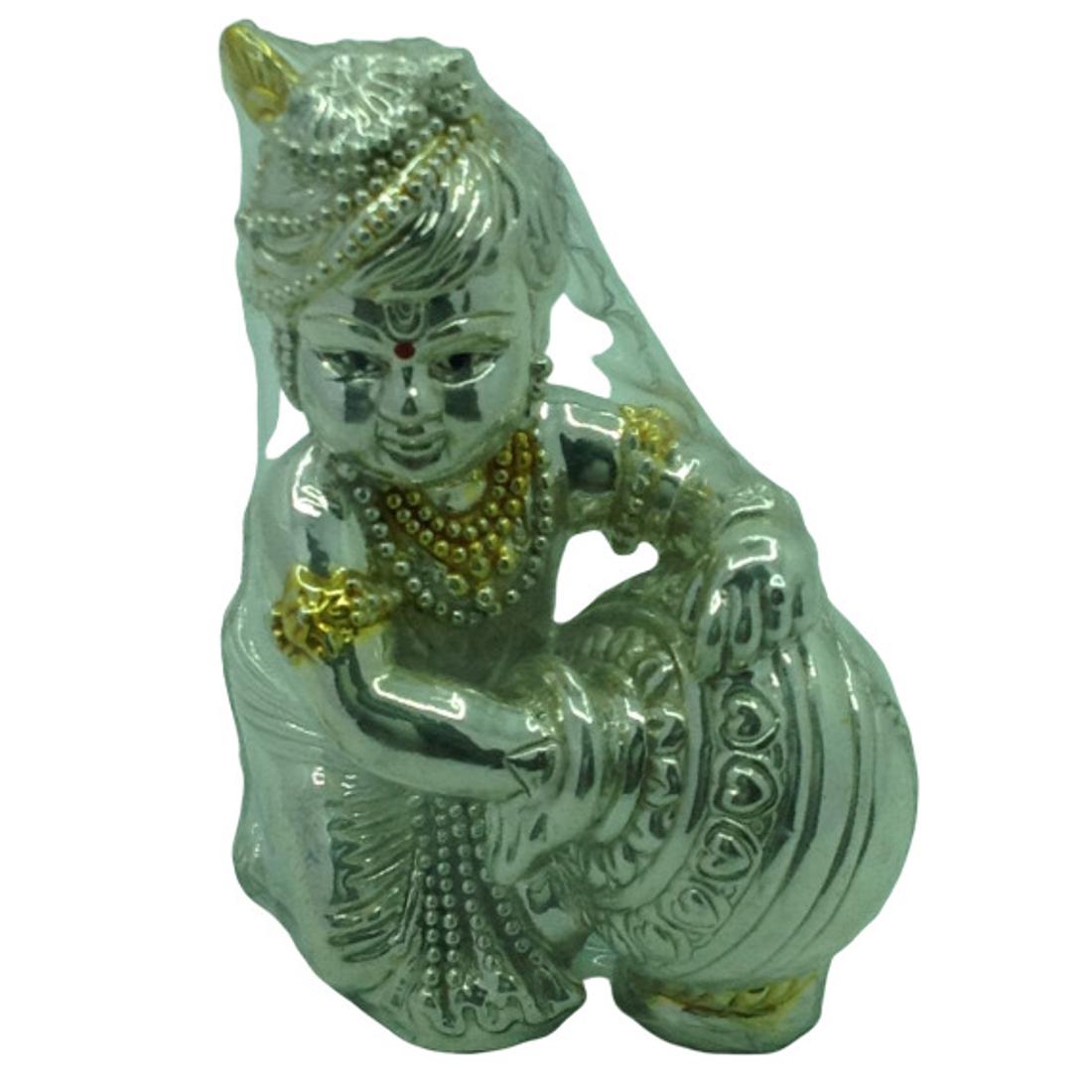 Silver Hollow Laddu-Gopal by Bharat Traders
