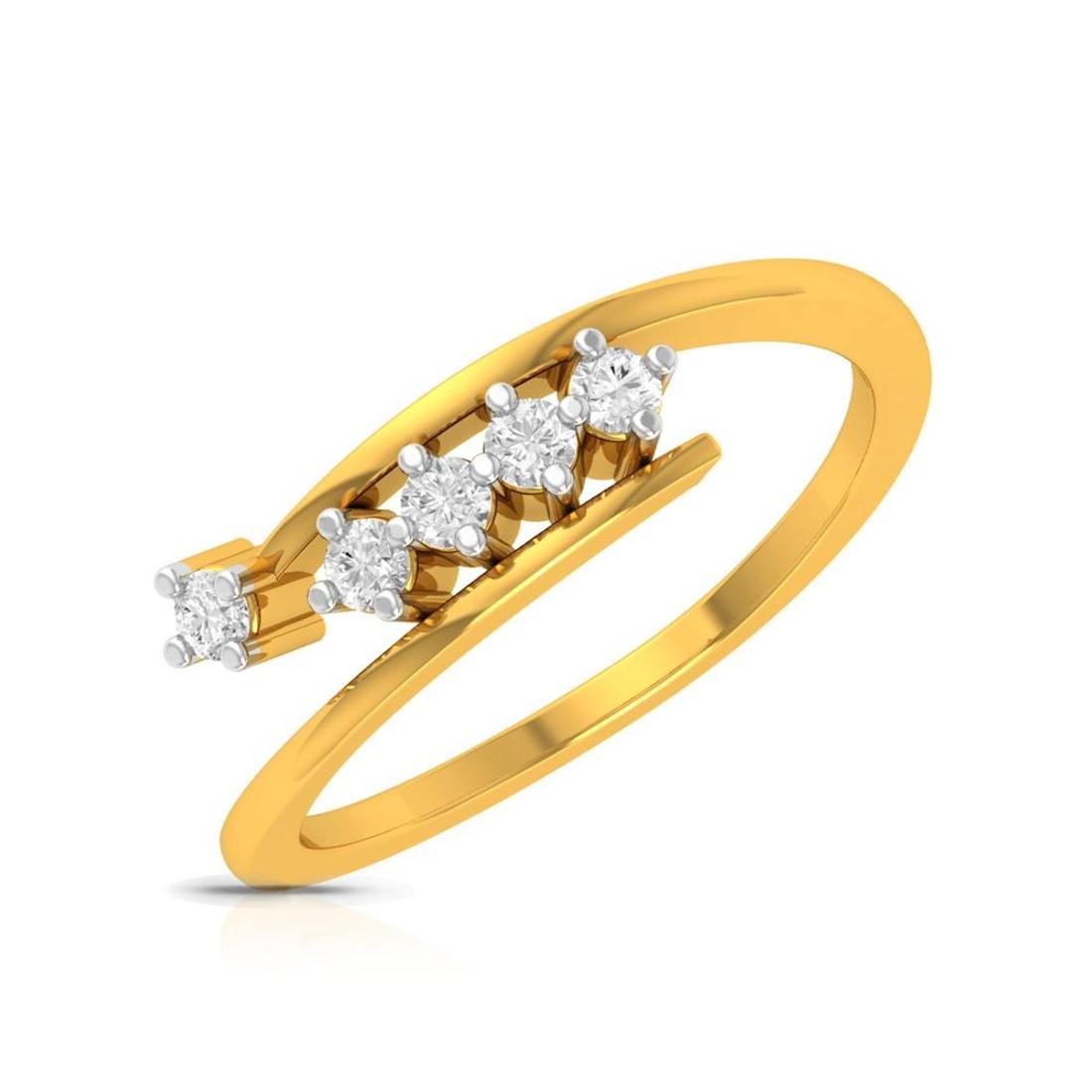 Buy Charu Jewels Diamond Ladies Ring CJLR0046 Online in India
