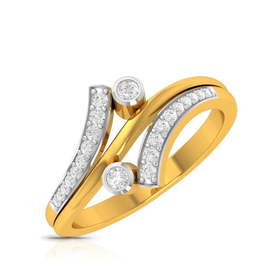 Buy Charu Jewels Diamond Ladies Ring CJLR0052 Online in India