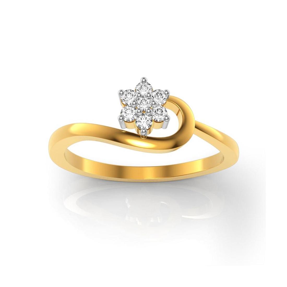 Buy Charu Jewels Diamond Ladies Ring CJLR0083 Online in India