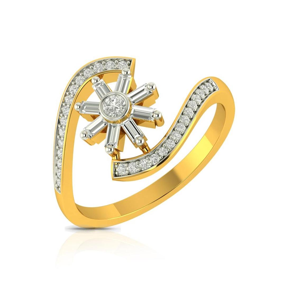 Buy Charu Jewels Diamond Ladies Ring CJLR0106 Online in India
