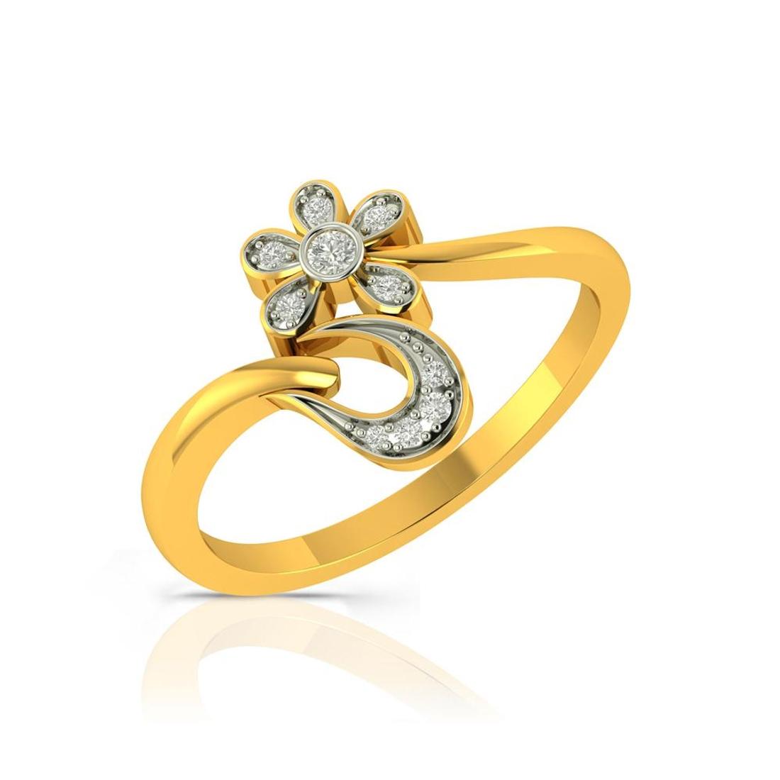 Buy Charu Jewels Diamond Ladies Ring CJLR0112 Online in India