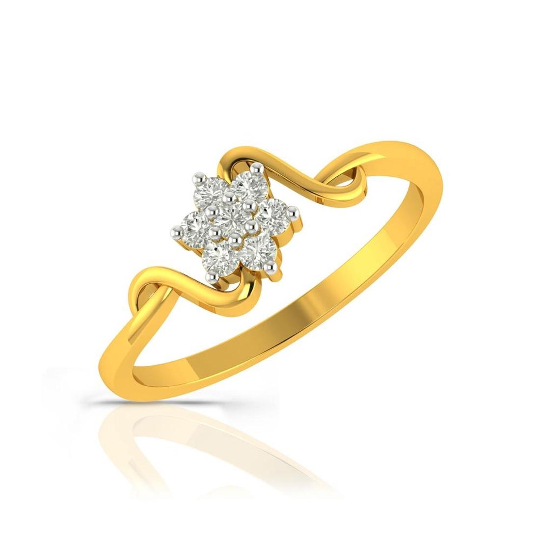 Buy Charu Jewels Diamond Ladies Ring CJLR0140 Online in India