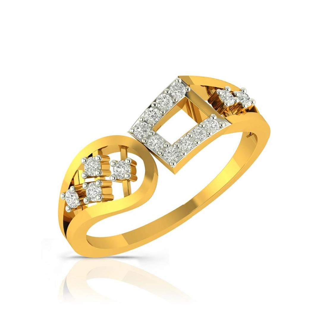 Buy Charu Jewels Diamond Ladies Ring CJLR0194 Online in India