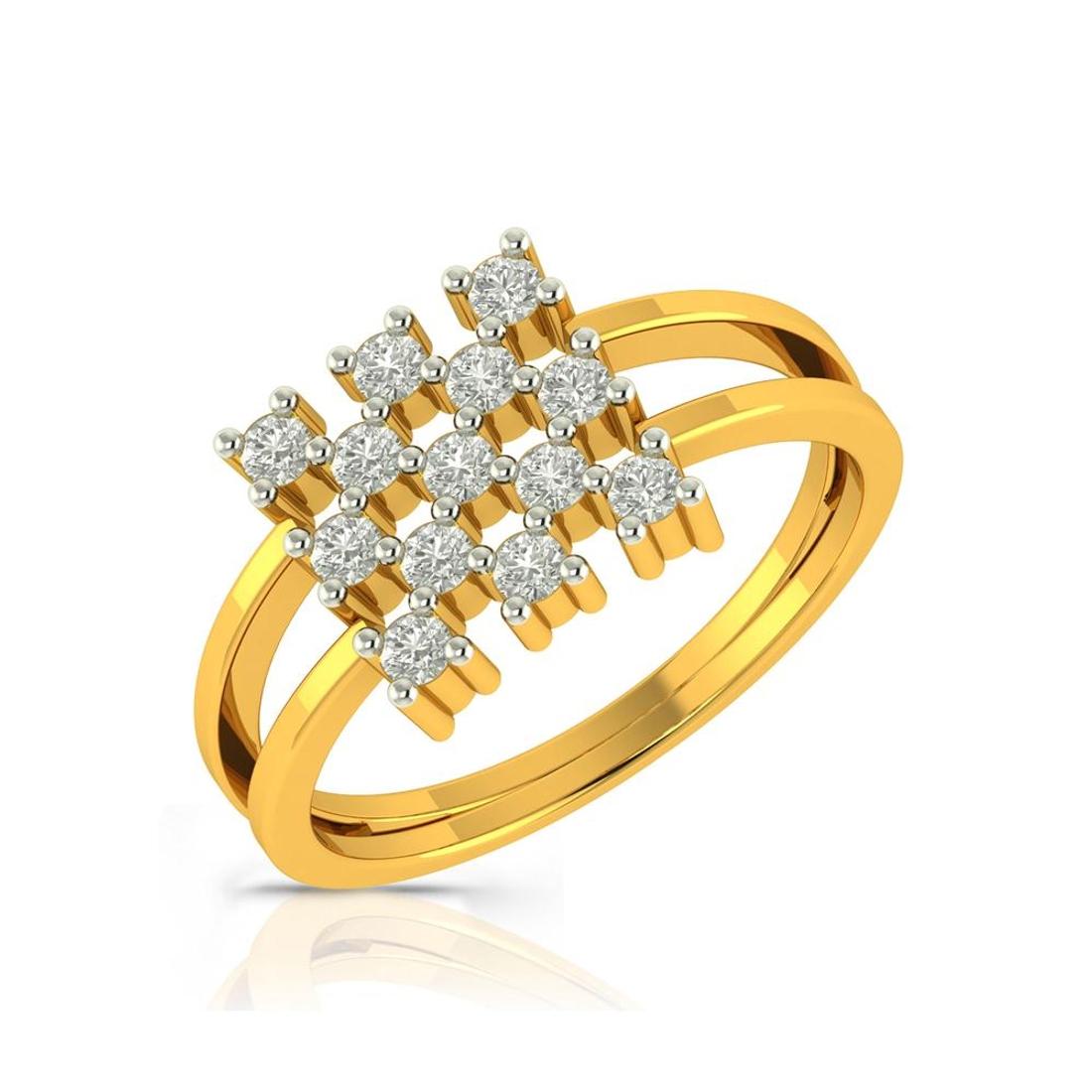 Buy Charu Jewels Diamond Ladies Ring CJLR0233 Online in India