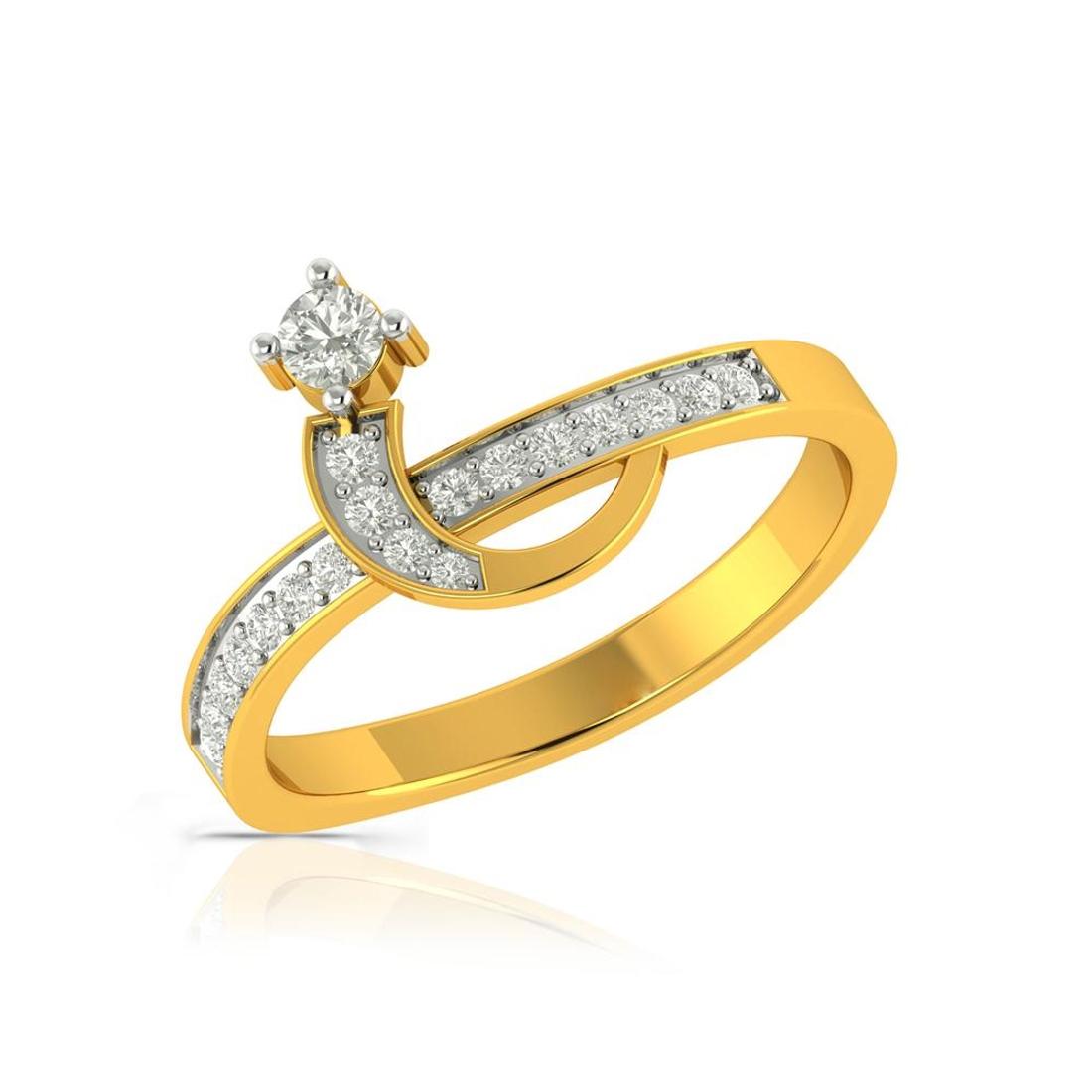 Buy Charu Jewels Diamond Ladies Ring CJLR0241 Online in India