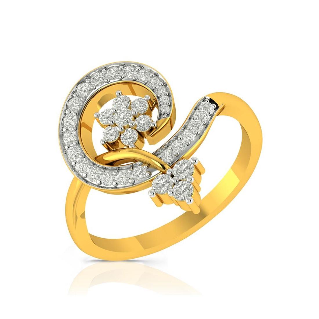 Buy Charu Jewels Diamond Ladies Ring CJLR0262 Online in India