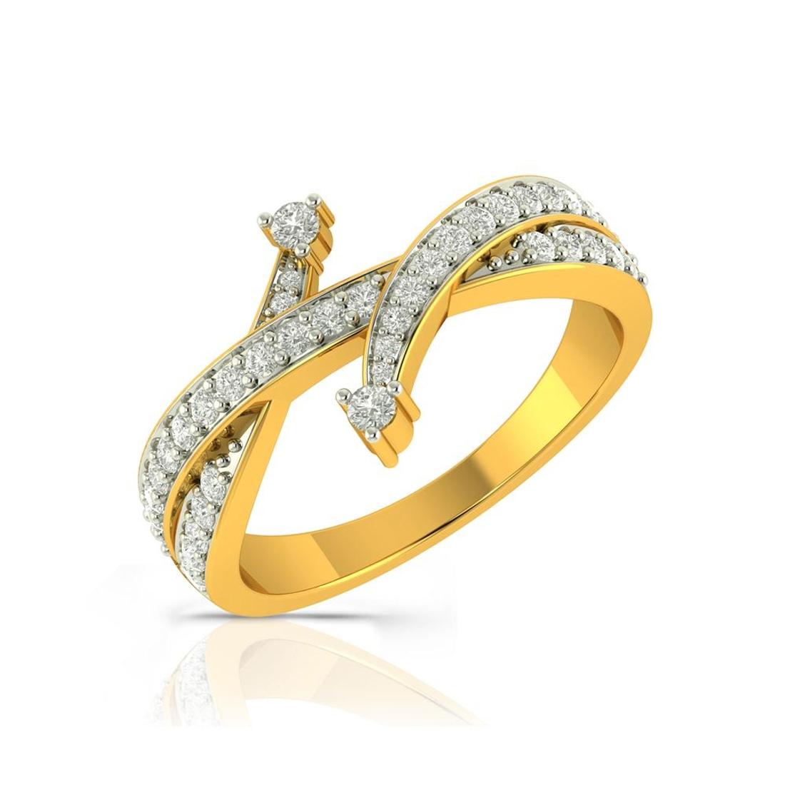 Buy Charu Jewels Diamond Ladies Ring CJLR0323 Online in India