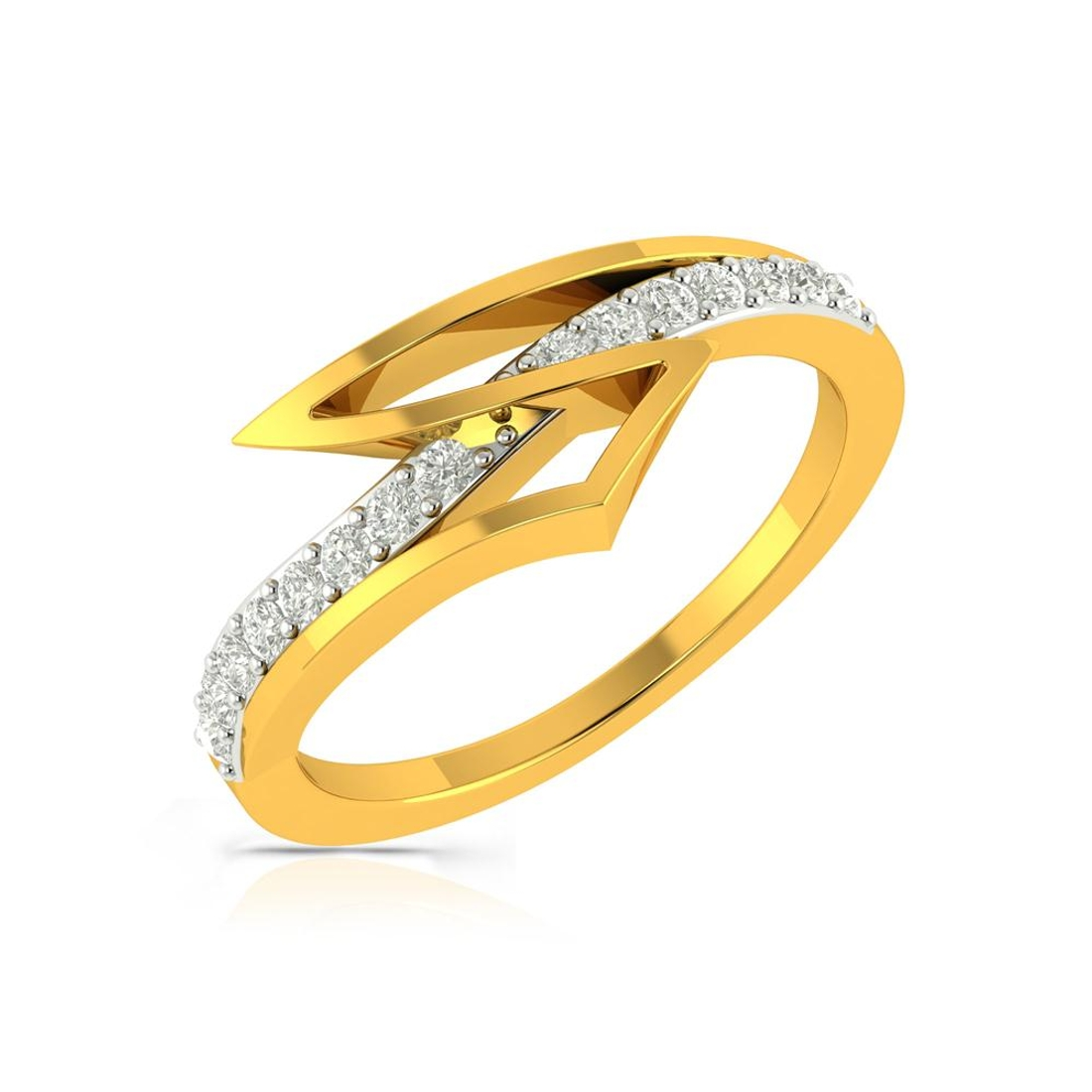 Buy Charu Jewels Diamond Ladies Ring CJLR0348 Online in India