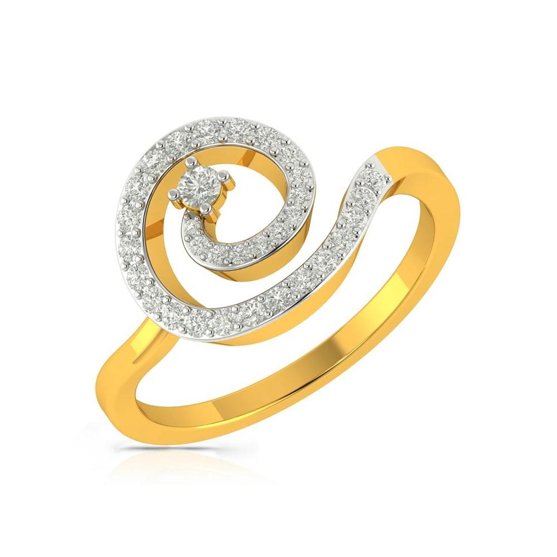 Buy Charu Jewels Diamond Ladies Ring CJLR0350 Online in India