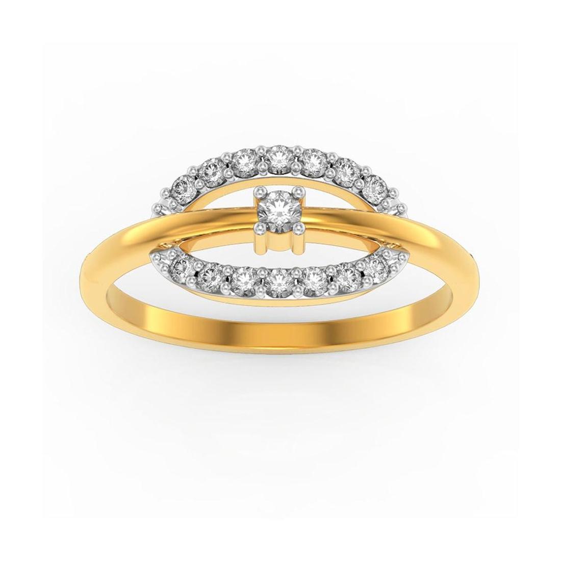 Buy Charu Jewels Diamond Ladies Ring CJLR0373 Online in India