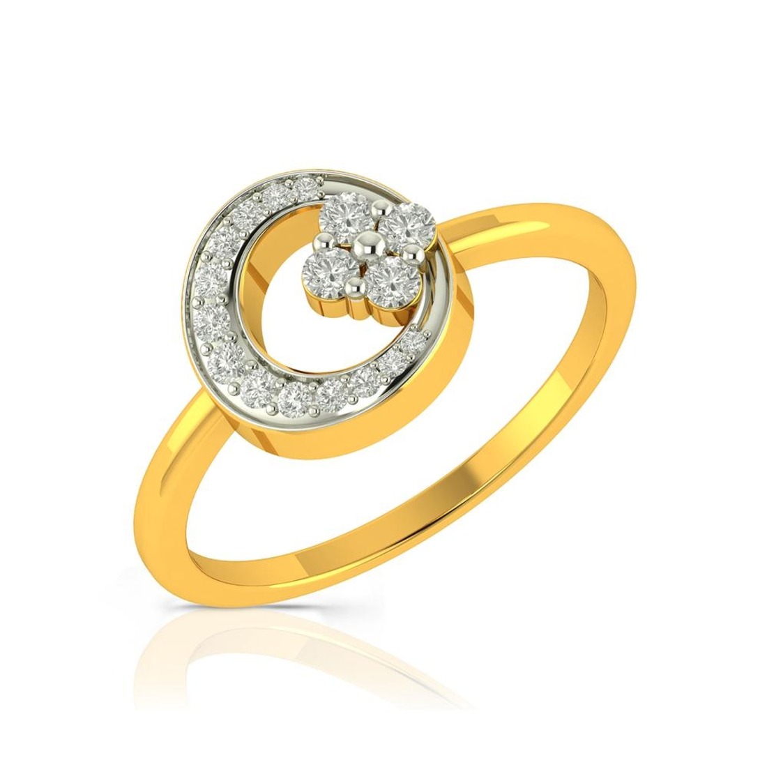 Buy Charu Jewels Diamond Ladies Ring CJLR0374 Online in India