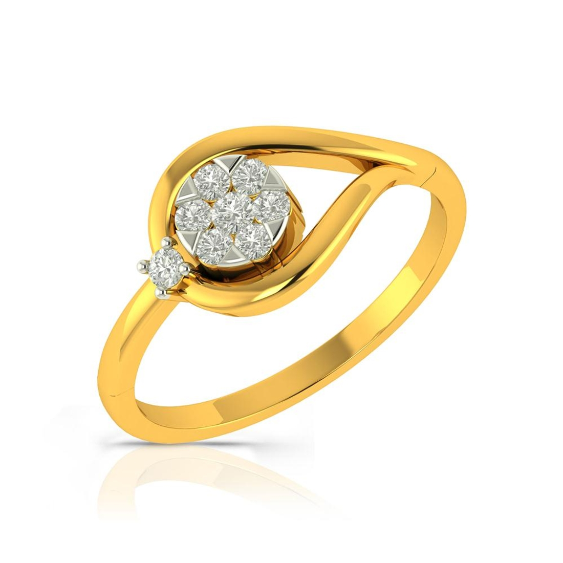 Buy Charu Jewels Diamond Ladies Ring CJLR0409 Online in India