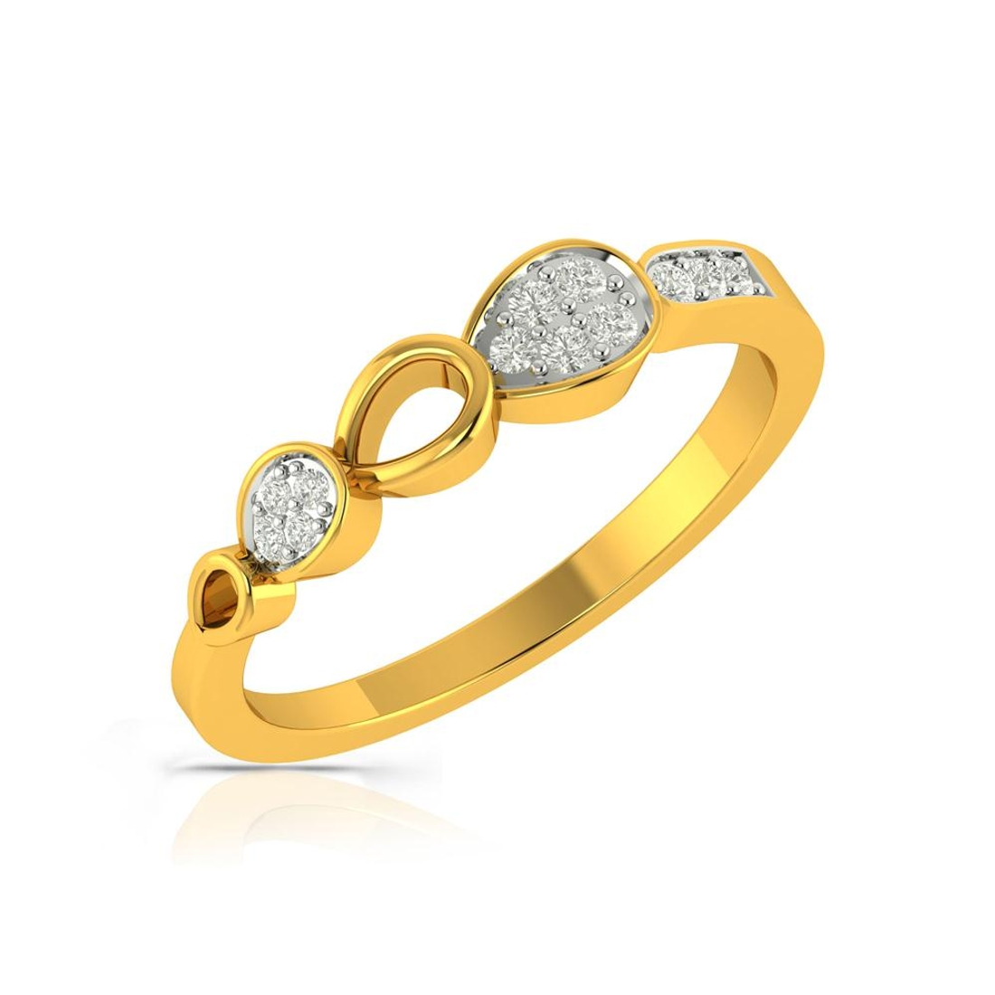 Buy Charu Jewels Diamond Ladies Ring CJLR0448 Online in India