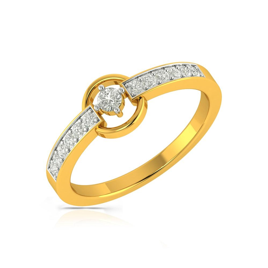 Buy Charu Jewels Diamond Ladies Ring CJLR0454 Online in India