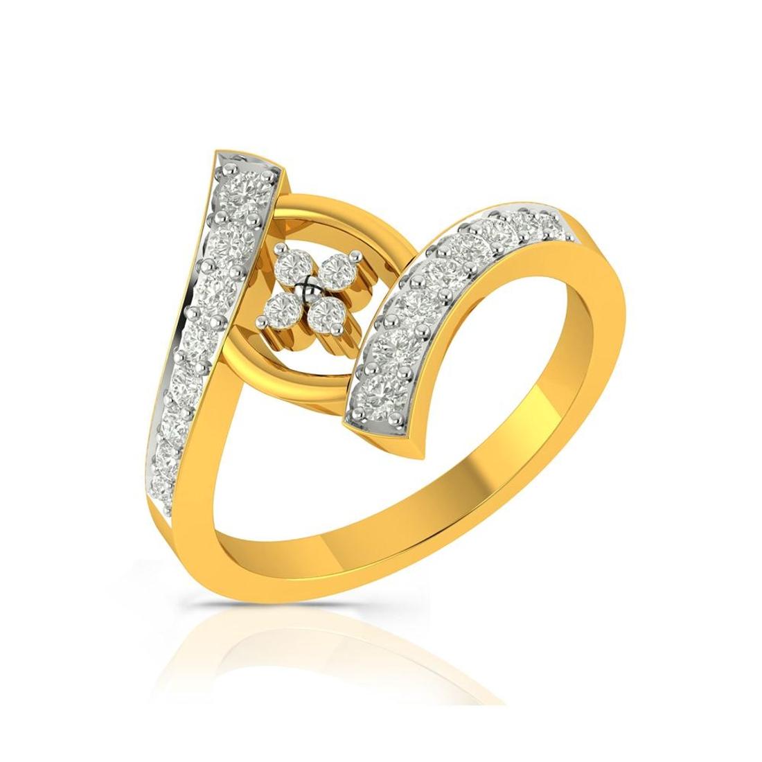 Buy Charu Jewels Diamond Ladies Ring CJLR0489 Online in India