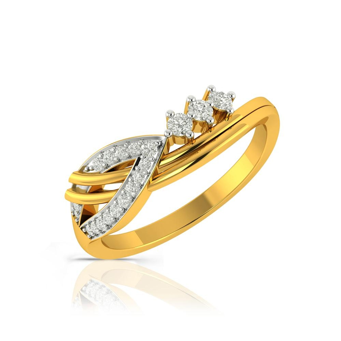 Buy Charu Jewels Diamond Ladies Ring CJLR0493 Online in India
