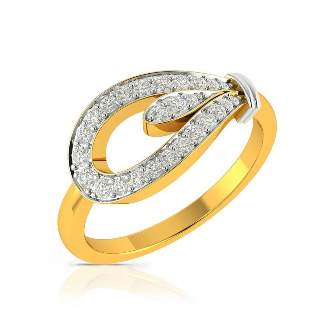 Buy Charu Jewels Diamond Ladies Ring CJLR0496 Online in India