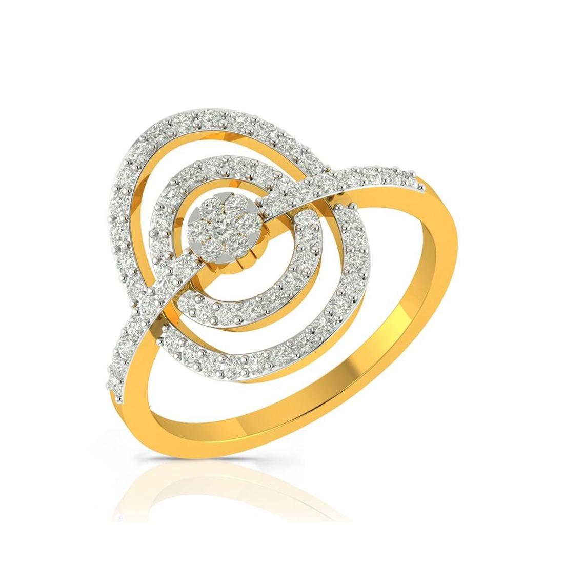Buy Charu Jewels Diamond Ladies Ring CJLR0513 Online in India