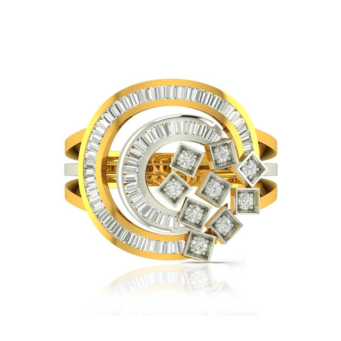 Buy Charu Jewels Diamond Ladies Ring CJLR0670 Online in India