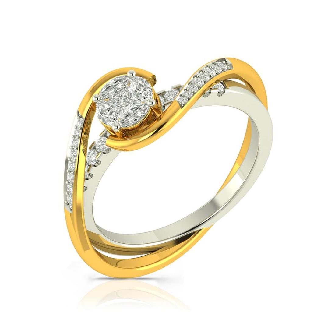 Buy Charu Jewels Diamond Ladies Ring CJLR0686 Online in India
