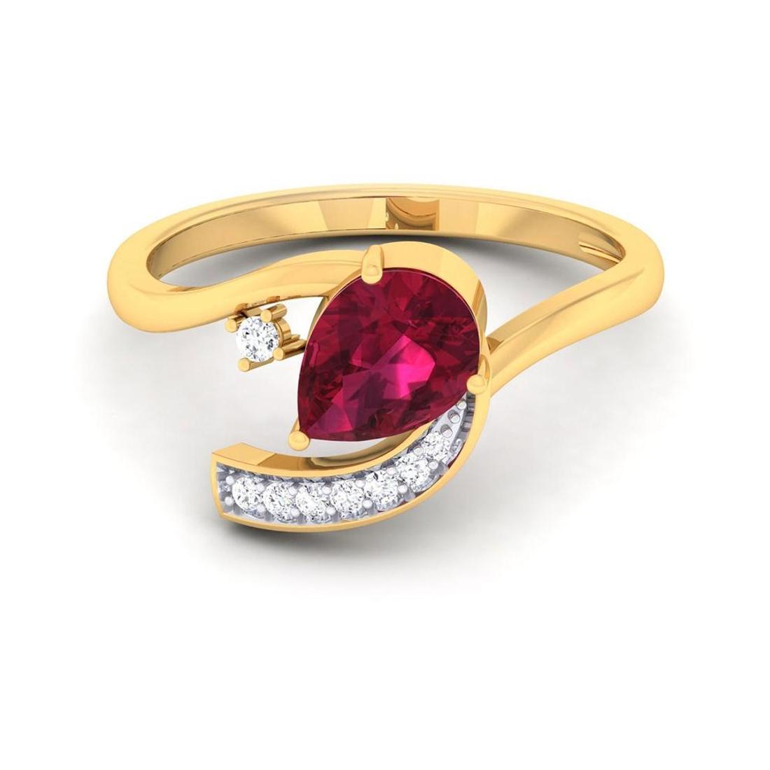 Buy Charu Jewels Diamond Ladies Ring CJLR0843 Online in India