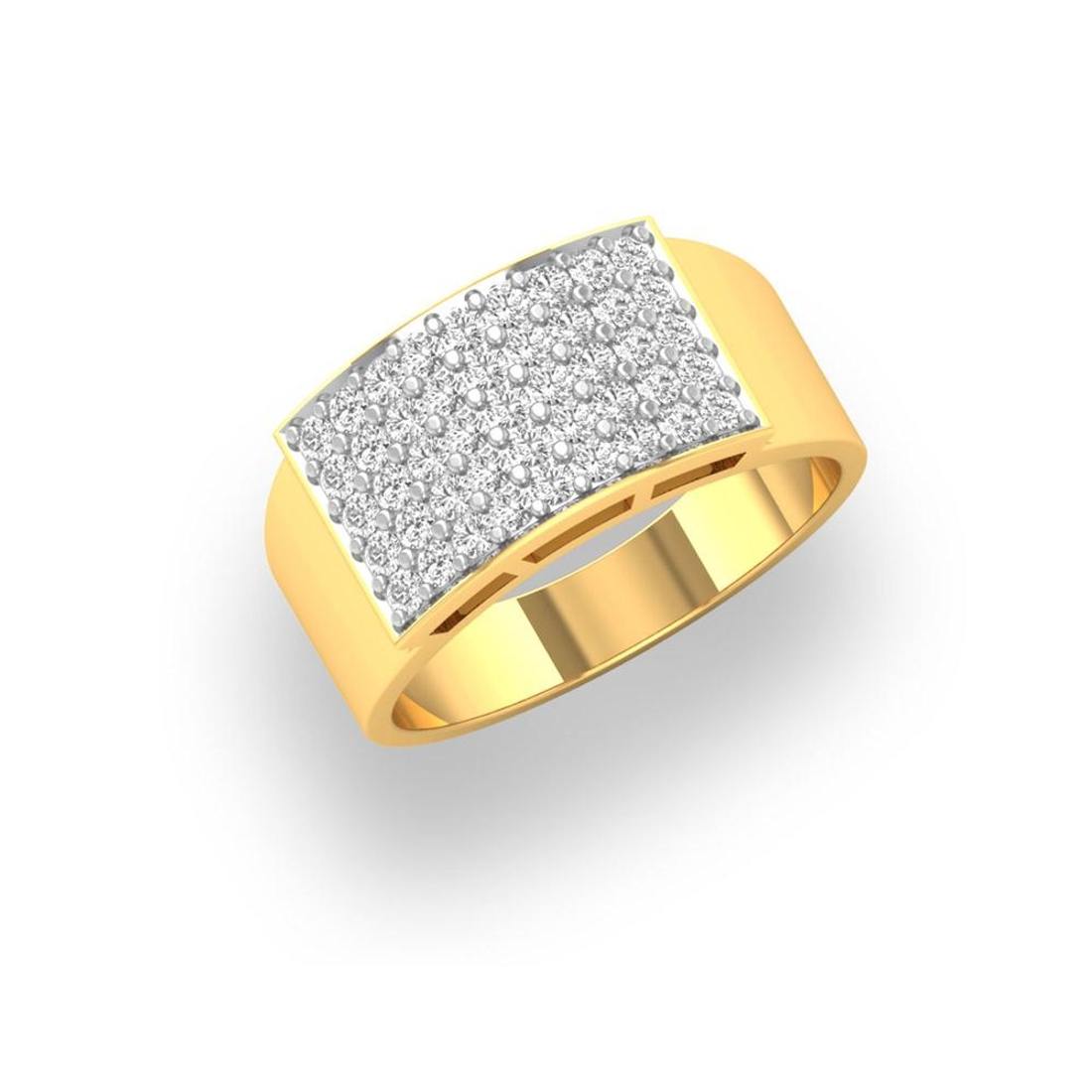 Charu Jewels Diamond Ring Made with 7.45 Gms 18 Kt Yellow Gold And 0.83 Carat Diamonds