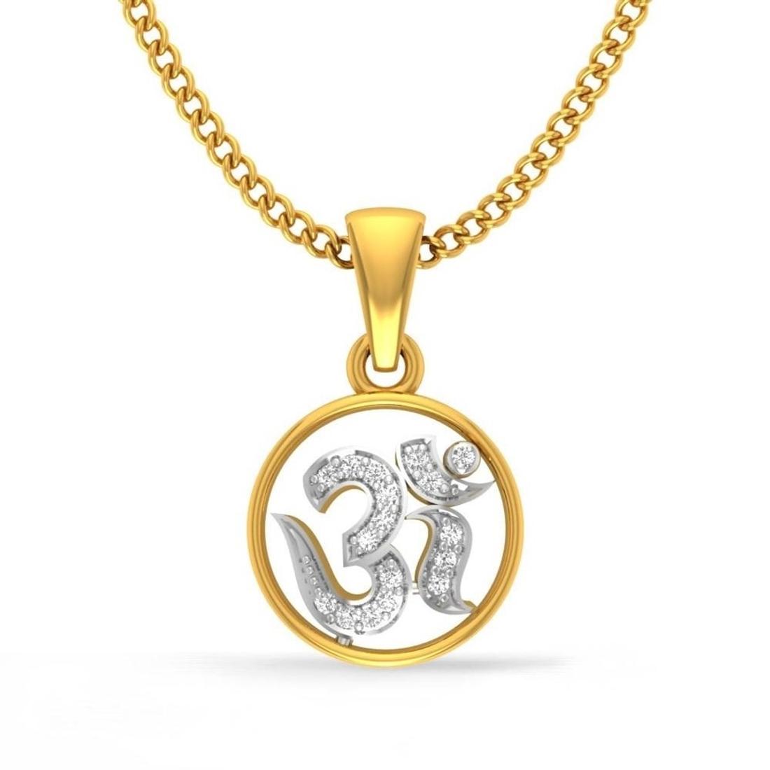 Sane 'OM' Diamond Pendant  CJSP0005