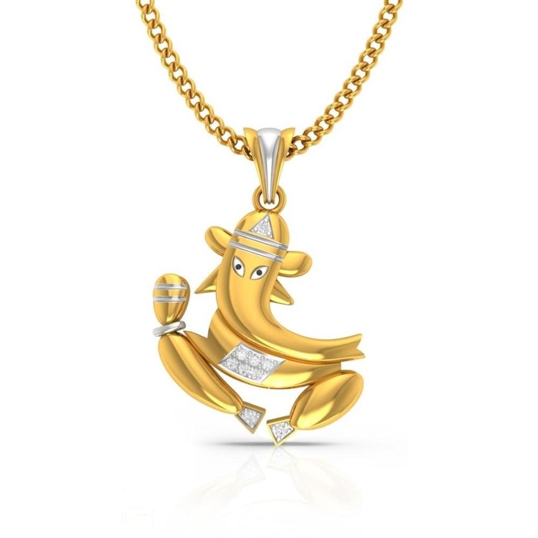 Dhumketu 'Ganesha' Diamond Pendant  CJSP0198